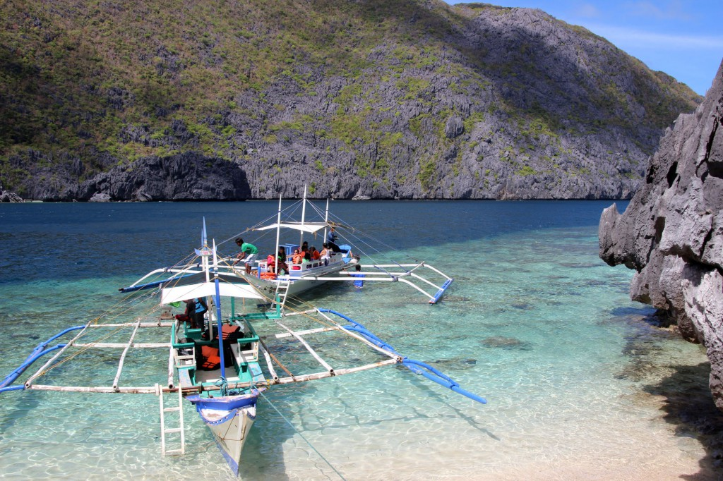 Philippinen-Palawan-Archipel-Boote