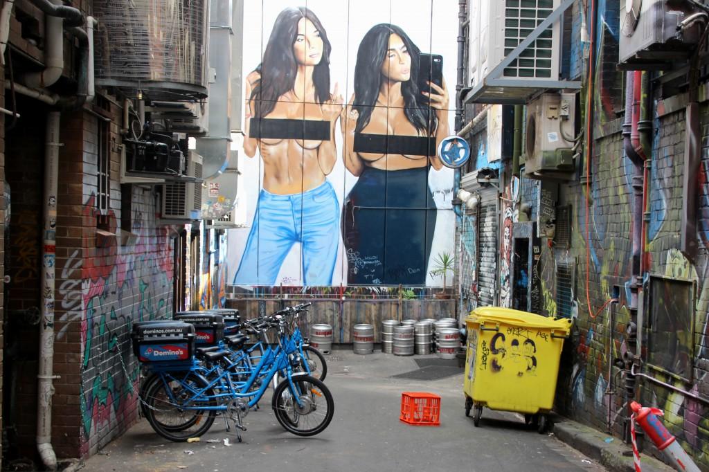 Melbourne Straßenkunst Kardashians